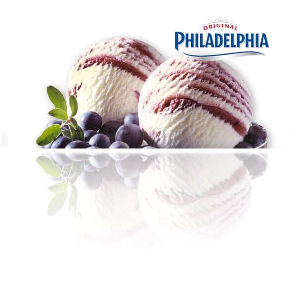 Queso Philadelphia con Mermelada de Arándanos