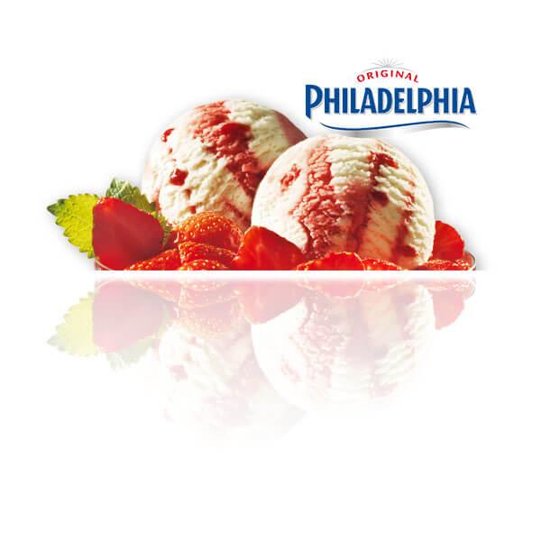 Queso Philadelphia con Mermelada de Fresa