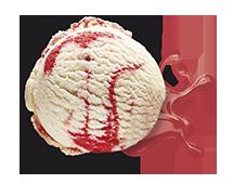 Cream with Strawberry Sauce